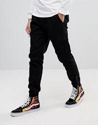 Fairplay Cargo Joggers In Skinny Fit Black