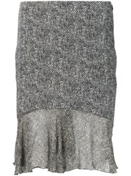 John Galliano Vintage Tweed Effect Skirt Black