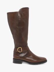 Gabor Wide Fit Townley Leather Knee Boots Caramel
