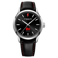 Raymond Weil 2731 St Bow01 Men's Freelancer Bowie Limited Edition Leather Strap Watch Black