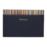 Paul Smith Navy Multistripe Card Holder