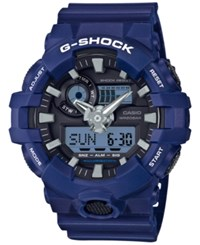 G Shock Men's Analog Digital Blue Resin Strap Watch 54Mm Ga700 2A