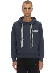 Ambush Printed Cotton Jersey Multi Cord Hoodie Blue