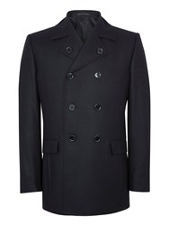 Paul Costelloe Men's Page Wool Rich Peacoat Black
