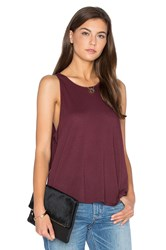 Enza Costa Tissue Jersey Sheath Tank Burgundy