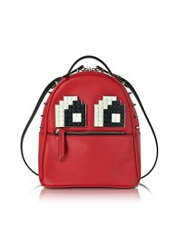 Les Petits Joueurs Baby Mick Eyes Red Leather Backpack