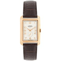 Rotary Men's Portland Leather Strap Watch Brown Cream
