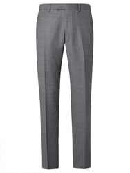 John Lewis Woven In Italy Super 120S Wool Check Tailored Suit Trousers Grey