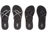 Teva Mandalyn Wedge Ola 2 Pack Black Fleur Black Women's Sandals Silver