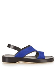 Adieu Type 43 Suede And Leather Sandals Black Navy