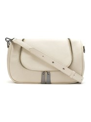 Mara Mac Leather Shoulder Bag White