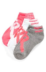 Women's Under Armour 'Power In Pink' No Show Socks Cerise Assorted