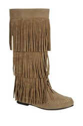 Refresh Jolin Fringe Tall Boot Brown
