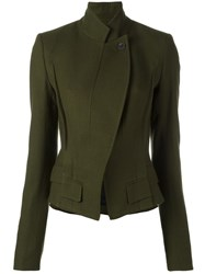 Haider Ackermann Peaked Lapel Fitted Jacket Green