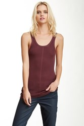 Inhabit Ribbed Tank Purple