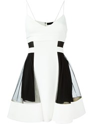 David Koma Color Block Dress White