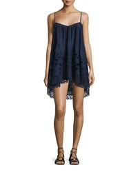 Tryb 212 Angi Sleeveless A Line Top Dune Lace Embroidery Women's