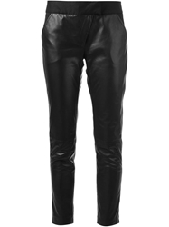 Thakoon Addition Leather Panel Trouser Black