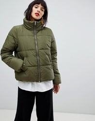 Pieces Padded Coat Grape Leaf Green