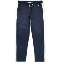 Ami Alexandre Mattiussi Striped Jersey Sweatpants Navy