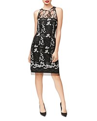 Betsey Johnson Embroidered Lace Sheath Dress Black White