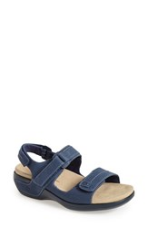 Women's Aravon 'Katy' Leather Sandal Navy