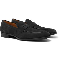 Hugo Boss Kensington Suede Penny Loafers Gray