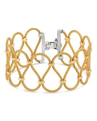 Alor Two Tone Looped Cable Bracelet Gold