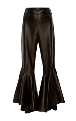 Ellery Sinuous Cropped Flared Pant Black