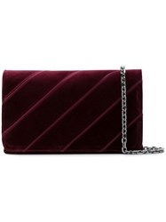 Casadei Quilted Clutch Red