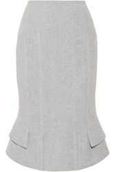 Tom Ford Asymmetric Wool Blend Skirt Gray