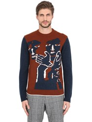 Salvatore Ferragamo Virgin Wool Jacquard Sweater
