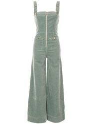 Alice Mccall Quincy Zip Front Overalls Green