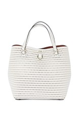 Karen Millen Mini Embossed Bucket Bag White