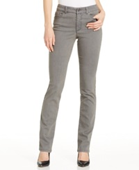 Charter Club Petite Straight Leg Jeans Grey Wash Only At Macy's Canyon Grey