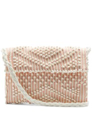 Antonello Tedde Suni Linen And Cotton Blend Cross Body Bag Pink White