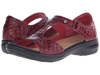 Revere Venice Red Croc Women's Flat Shoes