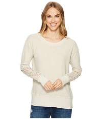 Allen Allen Box Thermal Lace Patch Crew Sand Clothing Beige