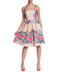 Plenty By Tracy Reese Kelsi Floral Print Sleeveless Dress Pink