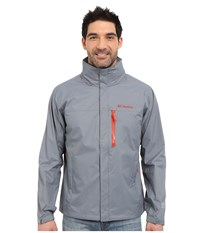 Columbia Pouration Jacket Grey Ash Super Sonic Men's Coat Gray