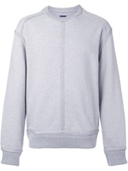 Juun.J Crew Neck Sweatshirt Grey