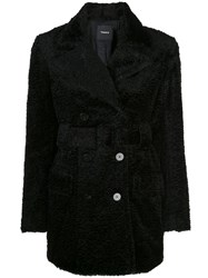 Theory Soft Knit Peacoat Black