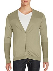 Porsche Design Sport Long Sleeves Cotton Blend Cardigan Sage