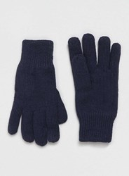 Topman Selected Homme Navy Gloves Blue