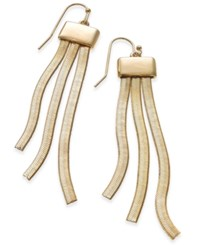 Thalia Sodi Gold Tone Herringbone Fringe Drop Earrings Only At Macy's