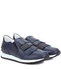 Tod's Leather Sneakers Blue