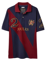 Joules Latino Polo Player Top French Navy Red
