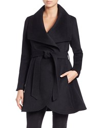Bcbgmaxazria Belted Fit And Flare Coat Black