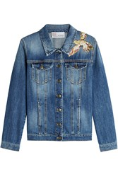 Red Valentino R.E.D. Denim Jacket With Embroidery