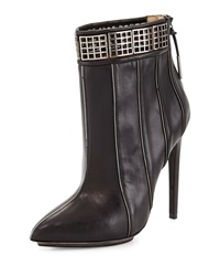 L.A.M.B. Troy Leather Ankle Boot Black